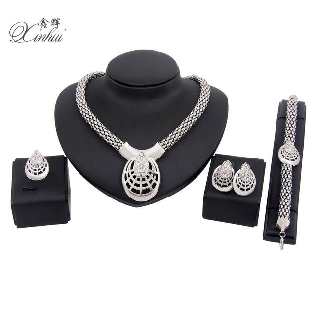 Продвижение африки ювелирные изделия 18 К серебряный позолоченный формы сердца ожерелья ...
