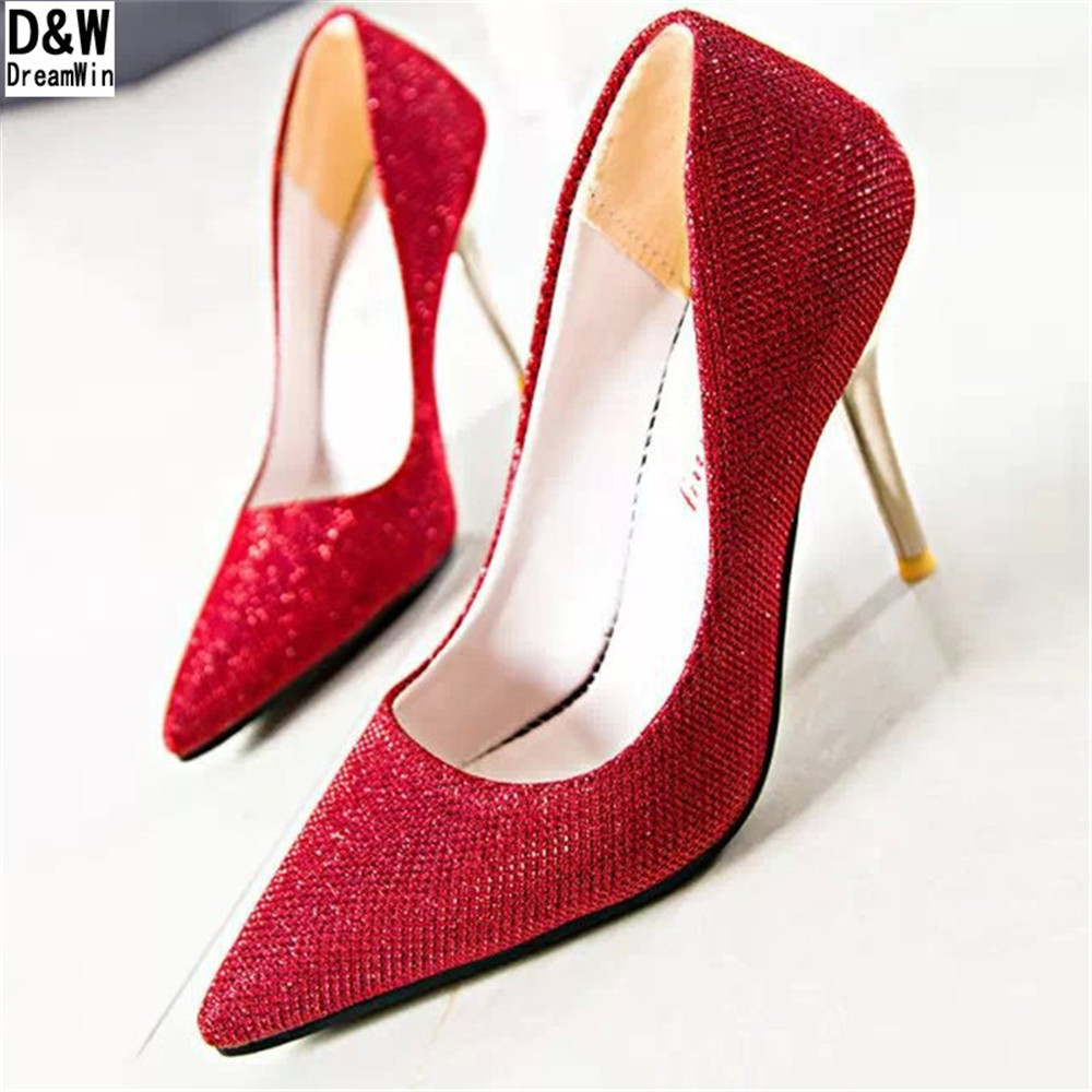 Big Size 35-42 Women Casual Mary Janes Thin Heels Platform Pumps Fashion Red Bottom High Shoes Woman Patent Leather