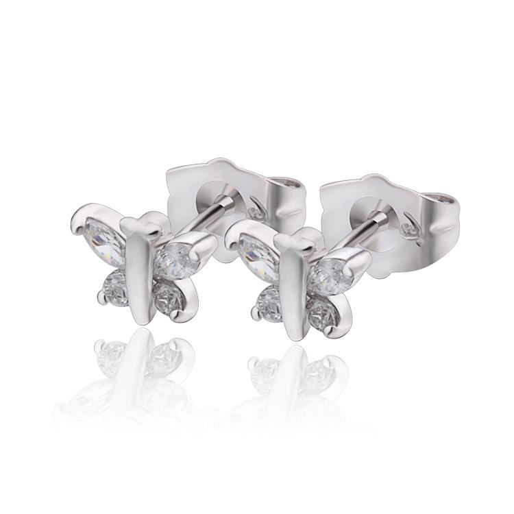 Brilliant Earrings For Women 2013 Fashion 18K Gold Plated Gemstone Stub Earrings