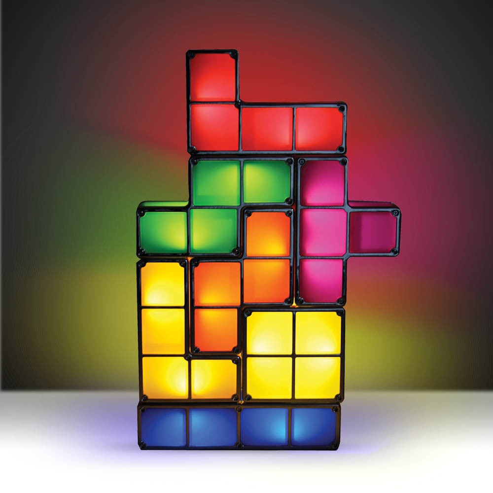 100 original tetris stackable led desk lamp novelty tetris light. Black Bedroom Furniture Sets. Home Design Ideas