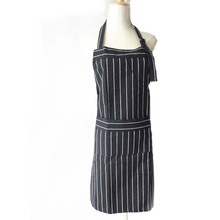 Adjustable Black Stripe Bib Apron Chef Waiter Kitchen Cook Tool(China (Mainland))