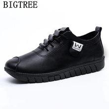 Kadın rahat ayakkabılar bayanlar kış çizmeler deri ayakkabı kadın moda ayakkabılar 2019 kadın zapatos de mujer chaussures femme ayakkabi(China)