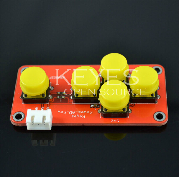AD Keyboard Simulate Five Key Module Analog Button for Arduino Sensor Expansion Board(China (Mainland))
