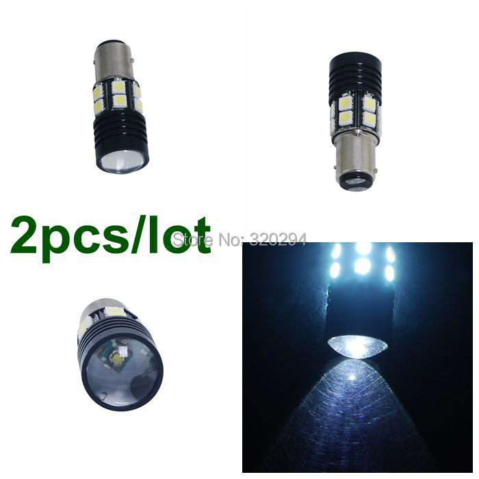 2X 1157 10W Car LED StopTail Brake Bulbs 1x Cree 12 SMD 5050 12V 360 Degree Use /Turn Signals /Reverse White Lighting - Excellent Etop Shopping store
