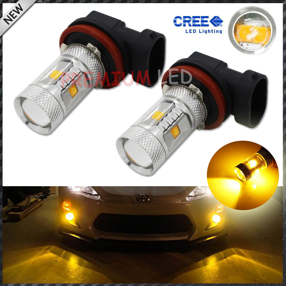 2pcs JDM Gold Yellow 3000K 30W CREE High Power H8 H11 LED Replacement Bulbs For Fog Lights, Driving Lights(China (Mainland))