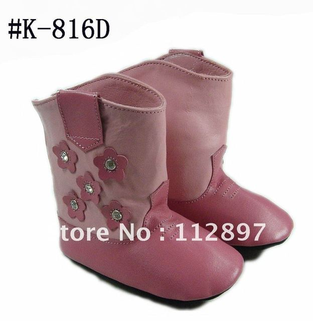 red cow leather soft suede sole baby leather boot