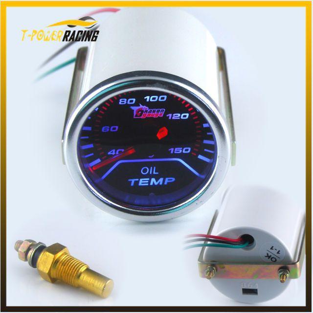 "2"" (52mm) Smoke Len Pointer 12V Oil Temp Gauge Racing Car C degree Auto gauge(China (Mainland))"