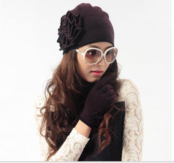 Free shipping New 2014 fashion fall winter pure cashmere Knitted hat caps Одежда и ак�е��уары<br><br><br>Aliexpress