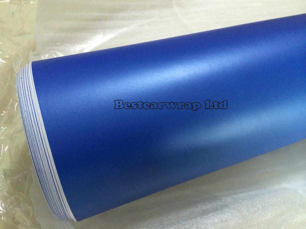 Pearl Blue matt vinyl car wrap film 3m satin pearl wrap (3)