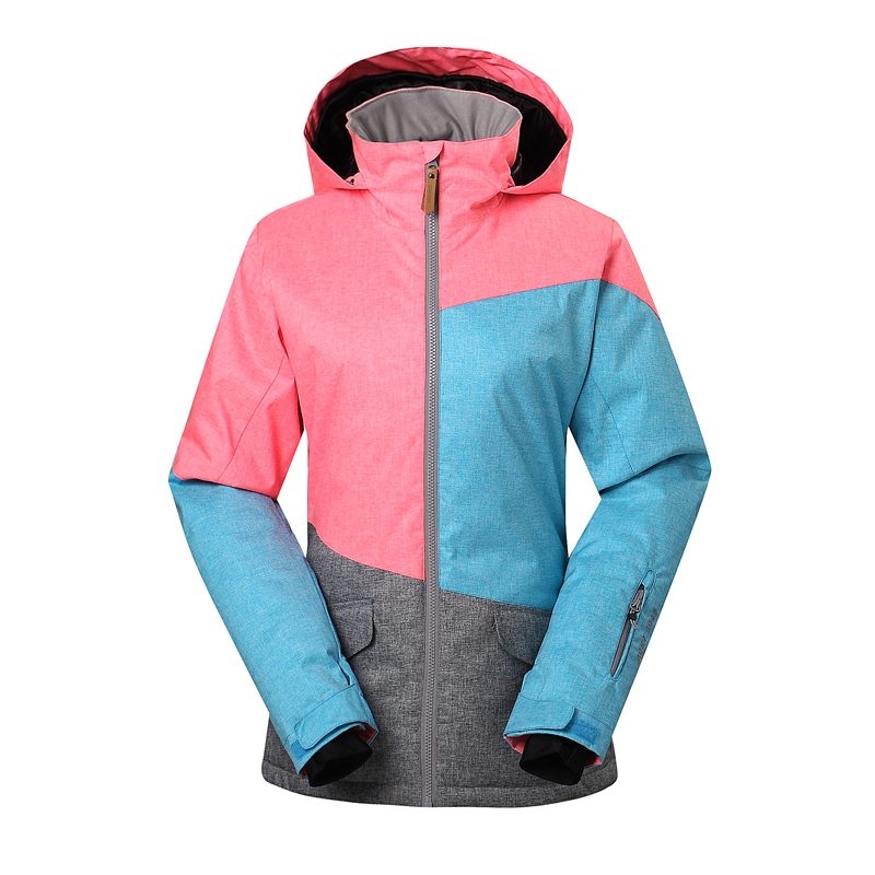 2015 New Gsou Snow Lady skiwear veneer board ski jackets female snowboarding clothing skiing suits guaranteed the original 0622B(China (Mainland))