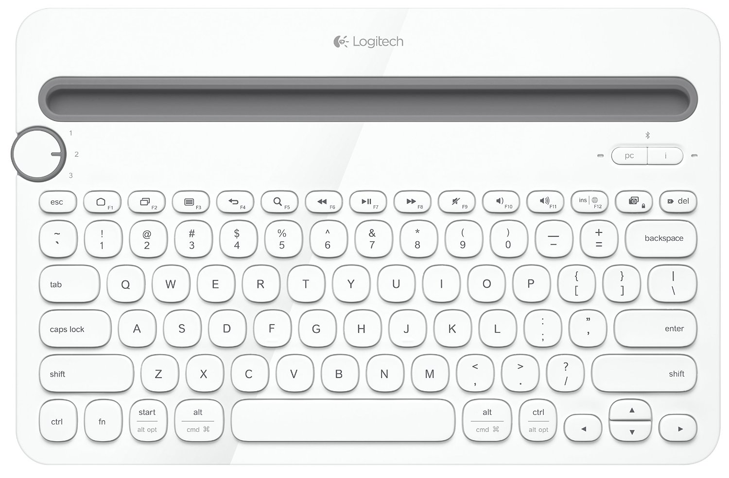 Logitech Bluetooth Multi-Device Keyboard K480 for Computers, Tablets and Smartphones(China (Mainland))