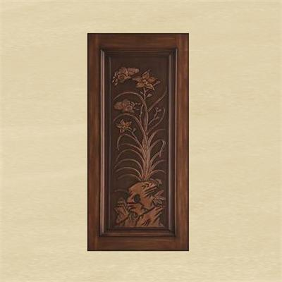 2015 solid wood entry door AGD-014(China (Mainland))