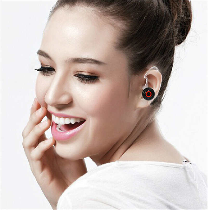 Free shipping Mini Smallest Wireless Bluetooth Headset for Mobile phone iPhone Samsung HTC Lenovo xiaomi(China (Mainland))