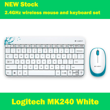 Logitech MK240 2.4GHz wireless keyboard and mouse set white desktop laptop PC Mini Keyboard Wireless Mouse
