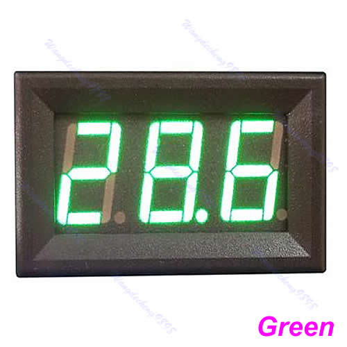 A96 Mini DC0-200V DC LED Voltage Panel Meter 3Bit Digital Display Voltmeter Green<br><br>Aliexpress