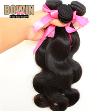 Unprocessed 6A Peruvian Virgin Hair Body Wave 100 Virgin Hair Weaves 3pcs lot Natural Black Color