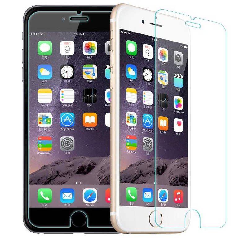 0.3mm 2.5D Ultra-thin Tempered Glass Screen Protector for iPhone 4 4s 5 5c 5s SE 6 6s plus for iphone 6 6 s 4.7″ +Cleaning kits
