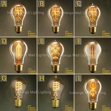 Vintage Edison Incandescent Light Bulb A19 E27 25W 40W 60W 110V 220V Decorative Lamp Bulb Firework Edison Lamp(China (Mainland))