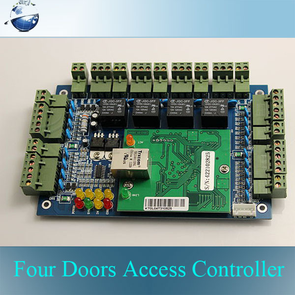 Фотография TCP/IP Network Access Controller Four Doors Access Control Board 20k Users and 100k Events