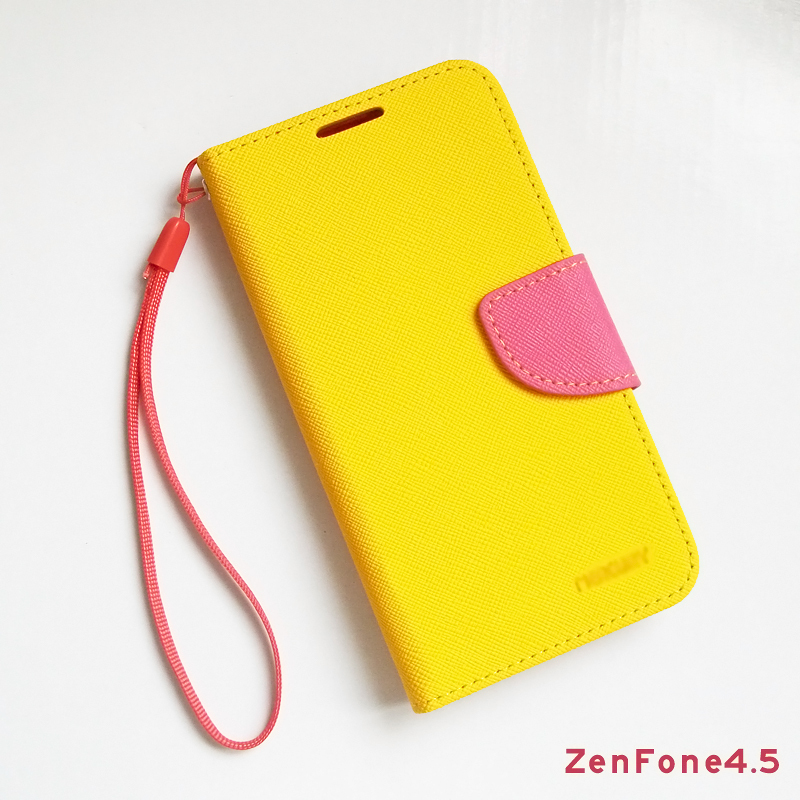 Asus ZenFone 4.5 case flip leather cover ZenFone4.5 A450CG phone cases double color wallet mobile covers  -  peasecod accessories store
