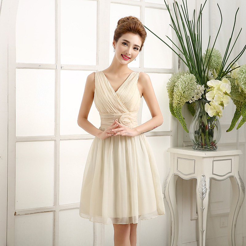 50PTH ZX208 Wholesale custom 2015 new fashion short paragraph bridesmaid dress dinner toast