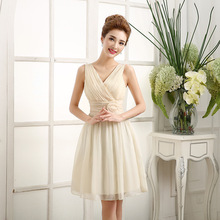 Short paragraph bridesmaid dress