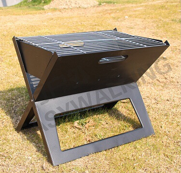 Grill,Gaia BBQ Best Choose Charcoal BBQ grill outdoor portable folding portable stainless steel Grills(China (Mainland))