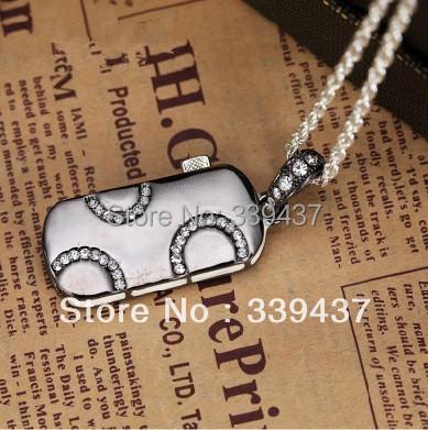 real capacity u disk necklace man Circle gifts pen drive 4GB/8GB/16GB/32GB usb flash drive stick(China (Mainland))