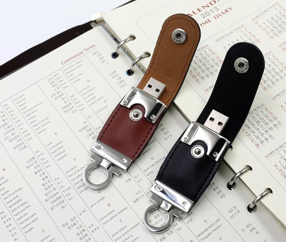 High-grade 32GB Leather USB Flash Drive 64GB 32GB 16GB 8GB 4GB Pen Drive memory Flash Drive stick(China (Mainland))