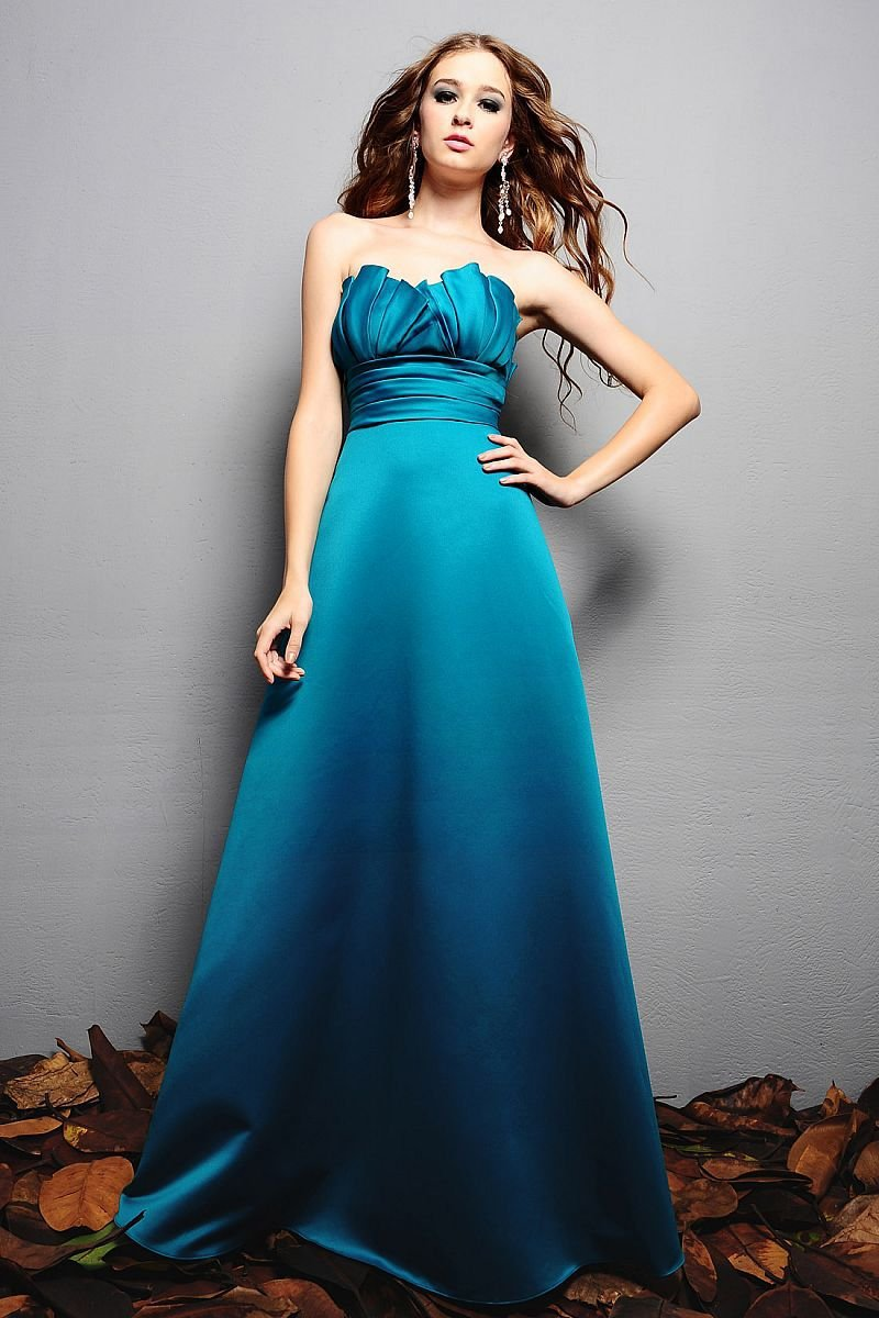 Teal Long Dresses