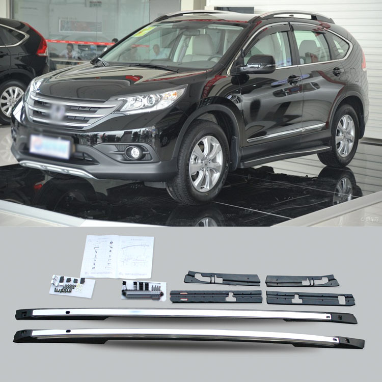 A Pair Silver Aluminum Top Roof Side Rails Cargo Luggage Rack For Honda CRV 2012(China (Mainland))