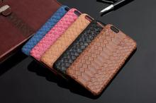 "Luxury Genuine Retro Leather Case Universal for iPhone 6/6s Plus 5.5"" Cellphone Back Cover Snake Leather Grain Cases DLS-012"