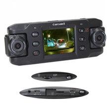 Dual Lens Car Camera Two Lens Vehicle DVR Dash Recorder GPS G-sensor CA365 X8000(China (Mainland))