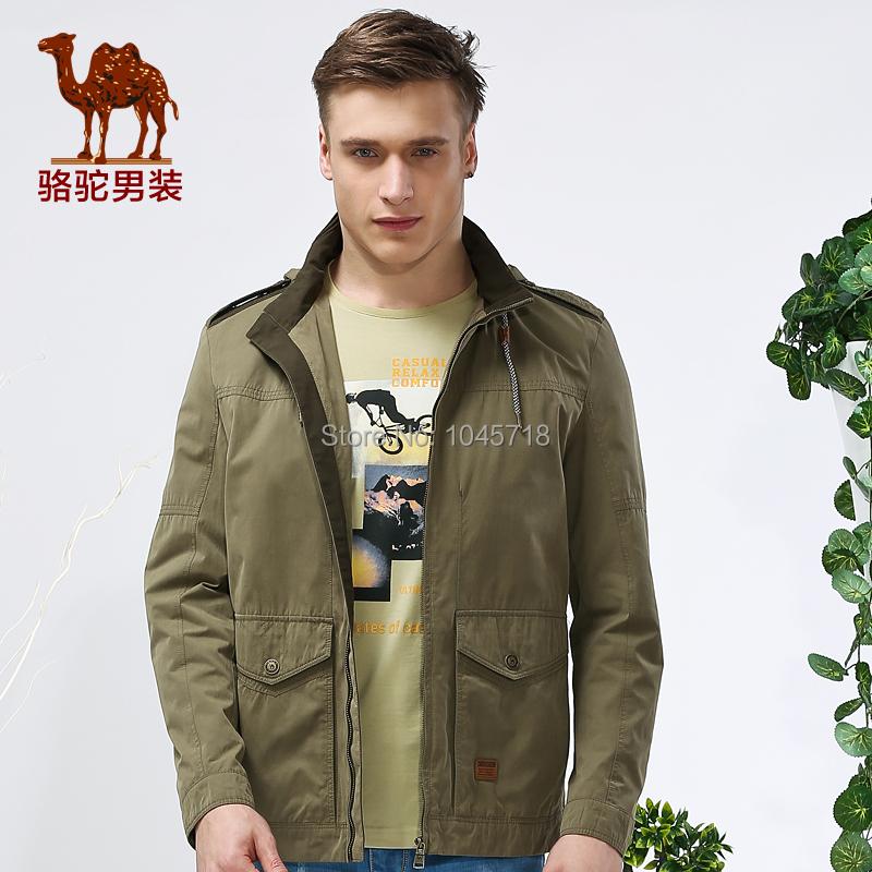 Camel mens 2015 mens spring men solid color jacket collar jacket coat Casual MaleОдежда и ак�е��уары<br><br><br>Aliexpress