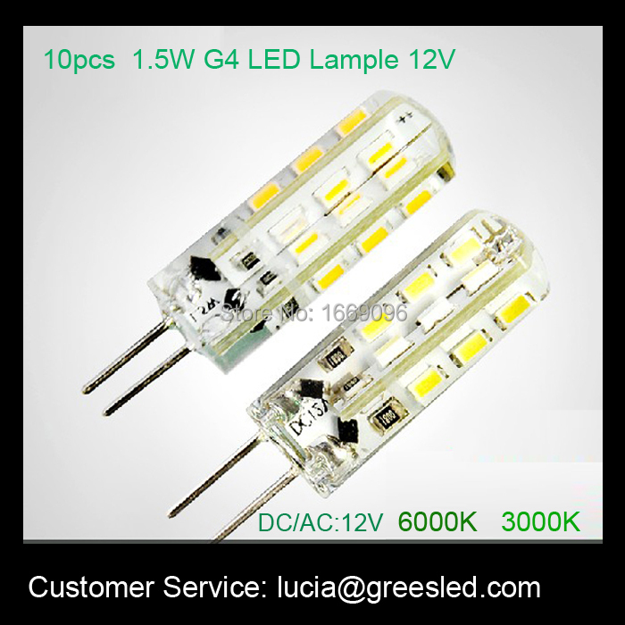 Free shipping high brightness 1.5W led lamp g4 12V for crystal lighting(China (Mainland))