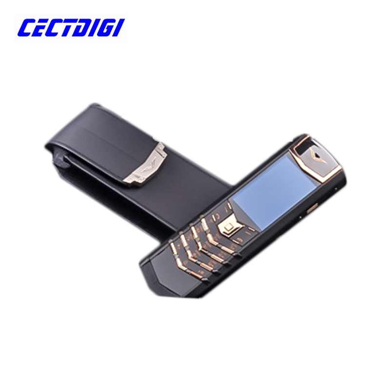 New K7+ with big luxury box VIP luxury phone signature CEO 168 genuine leather latest Russian keyboard phone gold color big box(China (Mainland))