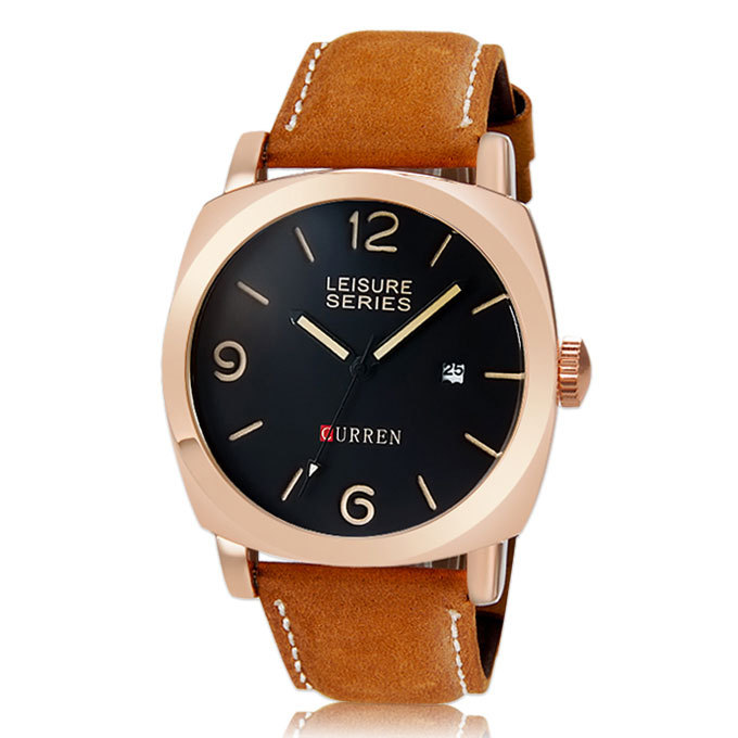 most popular s quartz watches leather