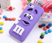For iphone 6 cases M&M's chocolate candy rubber soft silicone cartoon cell phone case covers for iphone6 4.7inch case cover(China (Mainland))