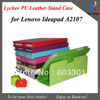 """New Arrival PU Leather Stand Cover for Lenovo IdeaPad A2107, 7"""" tablet  IdeaPad A2107 Magnetic Case & stand sleeve,free ship"""