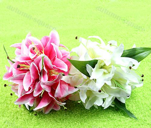Elegant Lily Bridal Holding Flower Clutch Bouquet Bridesmaid Wedding Favor Decor(China (Mainland))