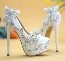 UniqueLuxury brand new design woman wedding shoes rhinestones butterfly shinny bling dress party proms dress shoe TG385 discount(China (Mainland))