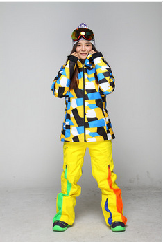 Free shipping, 2014 new 10K/10Kfemale snowboard suits young woman skiing jackets and pants for outdoor sports hiking in winter(China (Mainland))