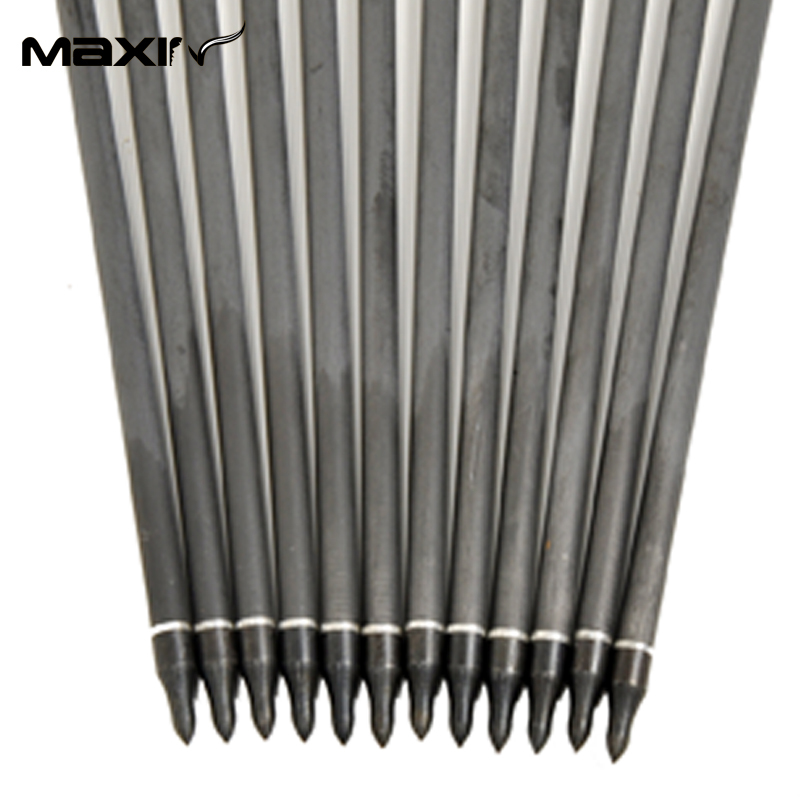 12pcs Lot Arrows Archery 31 4 Turkey Feathers Carbon Arrow 7 5mm Spine 500 Change Arrowhead