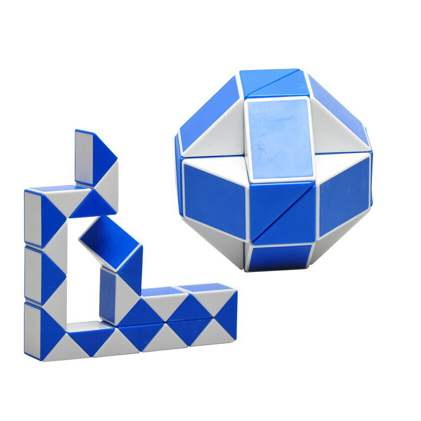 24 Blocks Snake Magic Cube Puzzle Speed Magic Ruler 3D Snake Toys Children Educational Toys Special Christmas Gifts(China (Mainland))