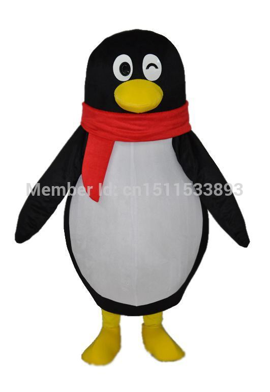High quality Cute Little Black Penguin Mascot Costume Character Halloween Costumes Fancy Dress Suit Free Shipping(China (Mainland))
