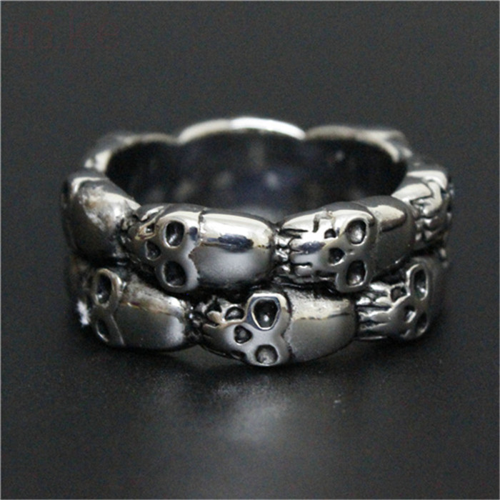 1pc Newest Amazing Top Selling Cool Skull Band Popular Ring 316L Stainless Steel Fashion Skull Ring(China (Mainland))