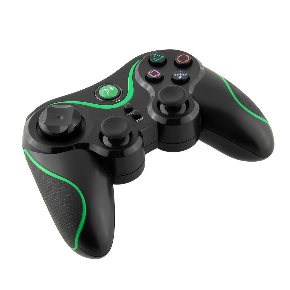 Bluetooth Wireless Game LED Controller Black Green For Sony for PS3 Playstation 3 laptop Video Game(China (Mainland))