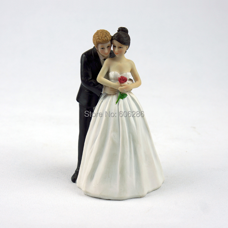 wholesale 10pcs lot resin couple bride and groom wedding cake toppers figurines in event party. Black Bedroom Furniture Sets. Home Design Ideas