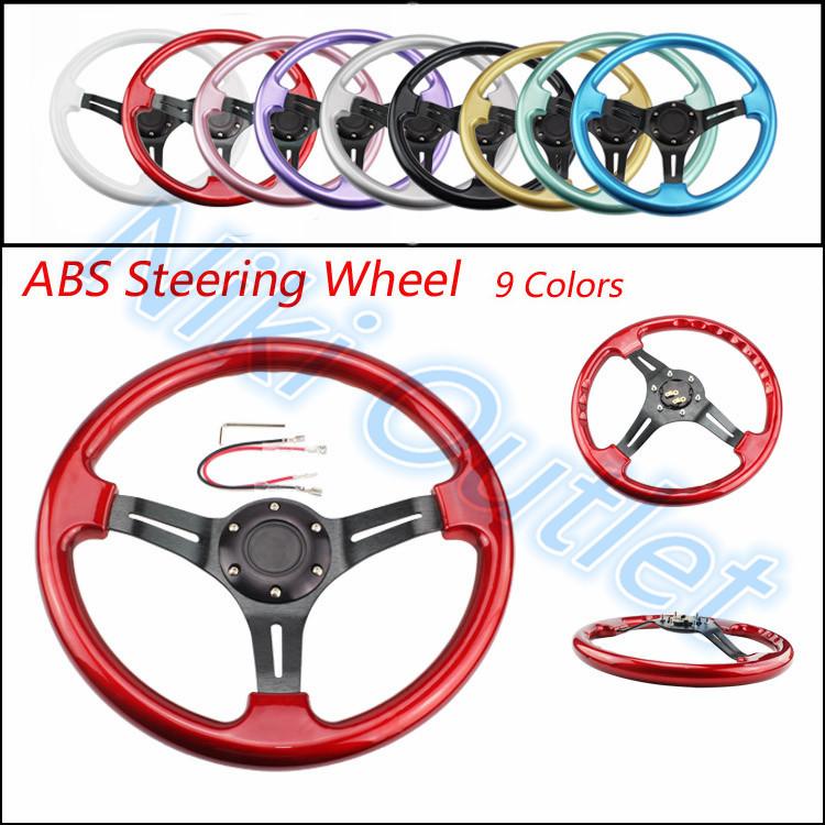 Black New 350mm 14inch Steering Wheel / ABS Steering Wheel (no MOMO OMP)(China (Mainland))