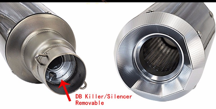 CNC modify motorcycle exhaust Benelli BN600 moto escape BN300 moto bike muffler for 51mm inlet